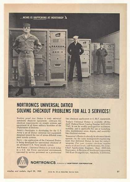 Army Navy Air Force Nortronics Universal Datico (1959)