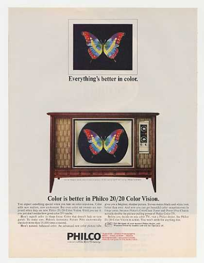 Philco Danish Modern Model 5436-WA Color TV (1965)