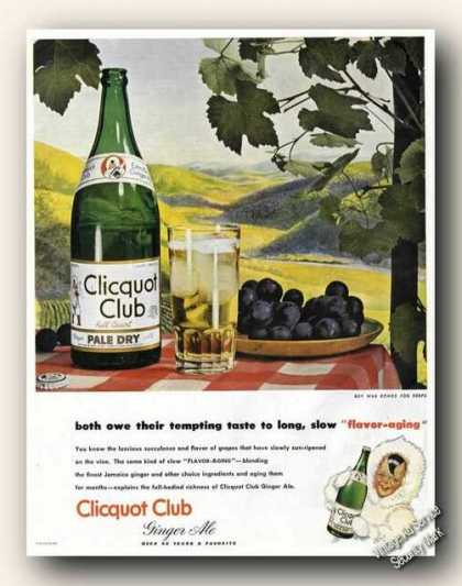 Clicquot Club Ginger Ale Ad Nice Art (1945)