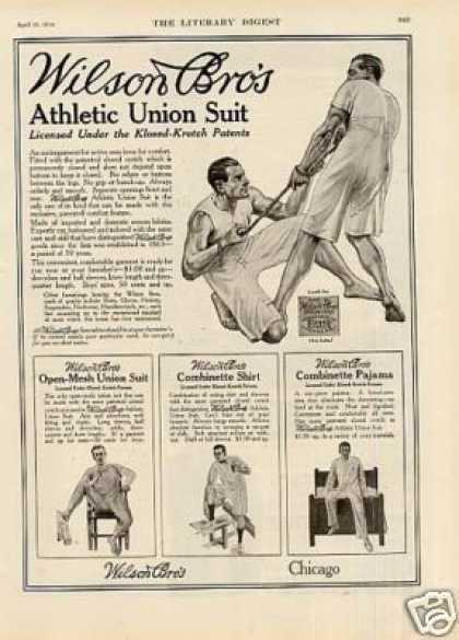 Wilson Bros. Athletic Union Suit (1914)