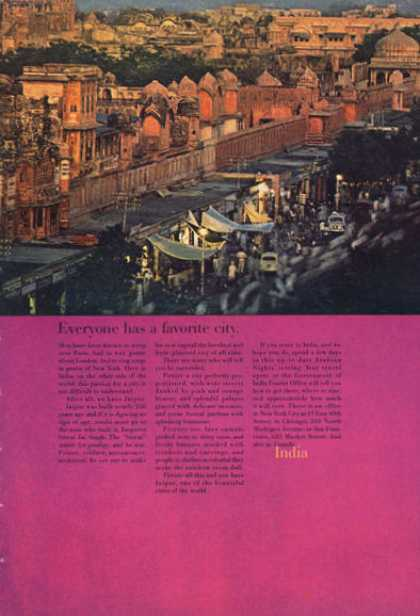 Jaipur India Travel Print (1966)