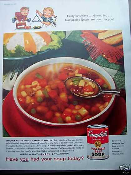 Kids Ring Dinner Bell Campbell's Soup (1958)