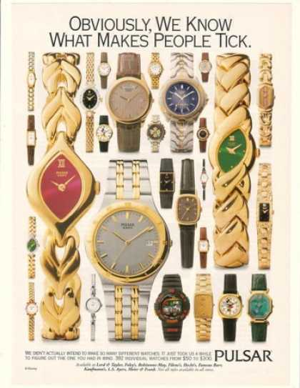 Vintage Jewelry And Watches Ads Of The 1990s