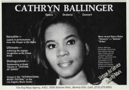 Cathryn Ballinger Photo Opera/oratorio/ (1971)