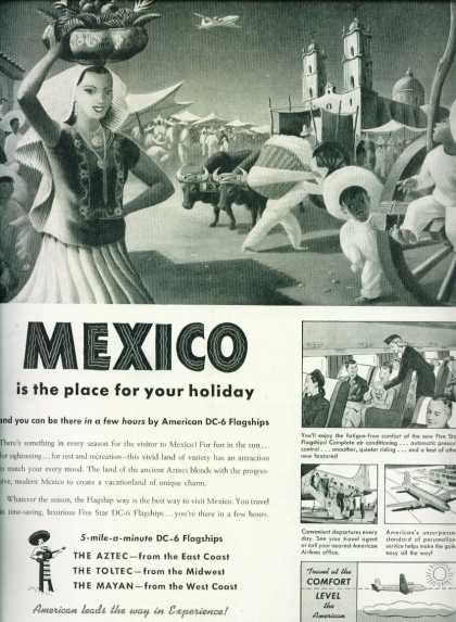American Airlines – Mexico Nice Artwork C (1950)