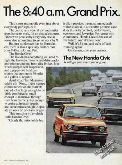 "Honda Civic ""The 8:40 A.m. Grand Prix"" (1974)"
