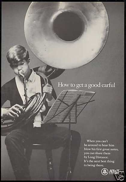 Tuba Photo Recital Long Distance AT&T Telephone (1967)