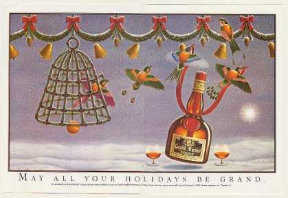 Grand Marnier Liqueur Holidays Be Grand Dbl-Pg (1988)