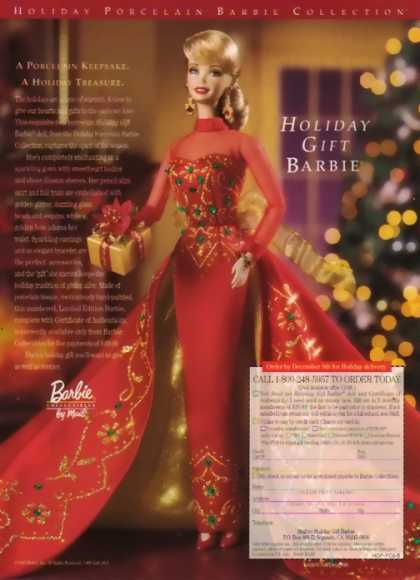 Barbie Doll – Holiday Gift Barbie (1998)