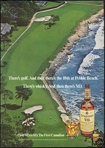 Golf Pebble Beach Seagram's VO Whisky (1977)