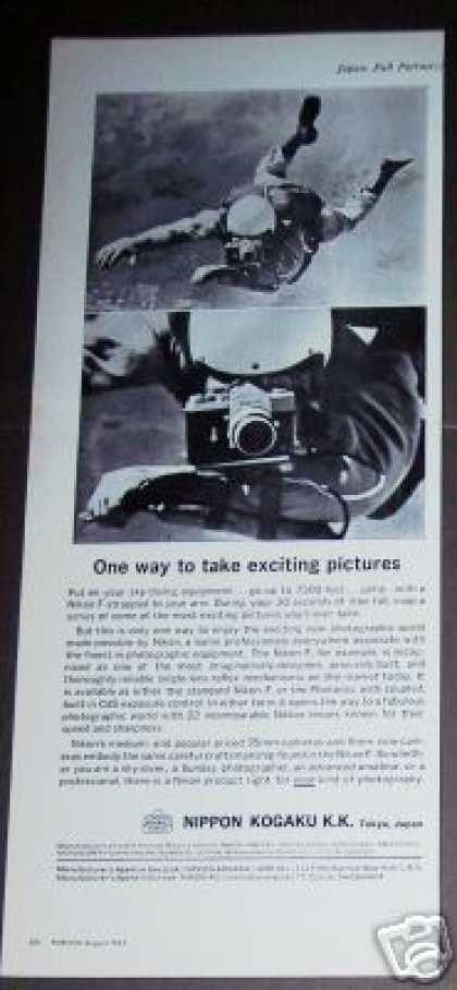 Nikon Camera Skydiver Photo Nippon Kogaku K.k. (1963)