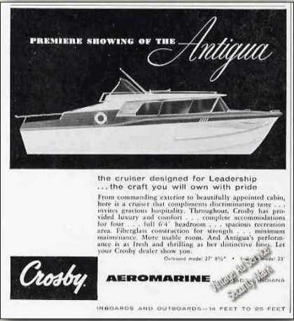 Crosby Antigua Cruiser Grabill In Boat (1959)