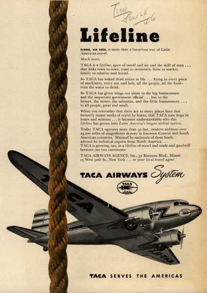 TACA Airways System – Lifeline (1946)
