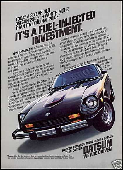 Black Datsun 280-Z 280Z Car Photo Vintage (1978)