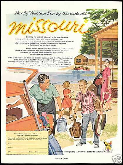 Missouri Travel Family Vacation Cabin Boat (1959)