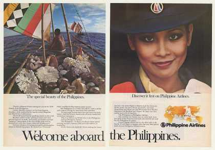 Philippine Airlines Vinta Sail Boat Stewardess (1977)