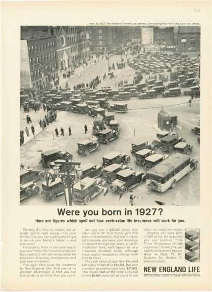 New England Life 1927 City Street Scene (1962)