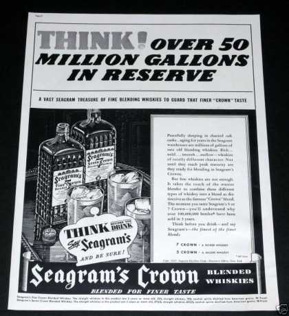 "Seagrams Whiskey ""Be Sure"" (1937)"