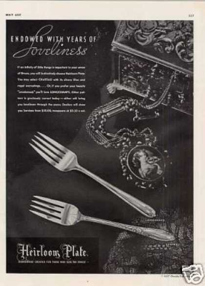 Heirloom Plate Ad Longchamps, Chateau (1937)