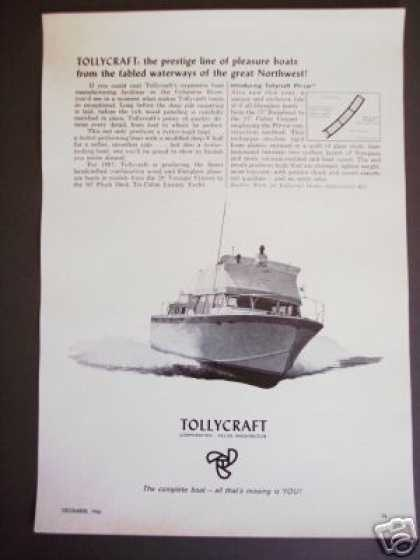 Tollycraft Yachts Cruisers Boat Photo Original (1966)