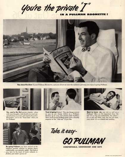 "Pullman Company – You're the private ""I"" in a Pullman Roomette (1952)"
