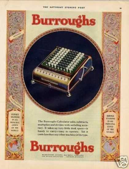 Burroughs Calculator Color (1927)