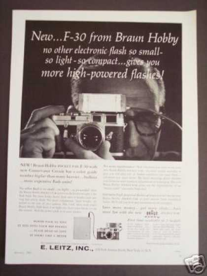 Braun Hobby F-30 Flash Leitz Camera Photo (1961)