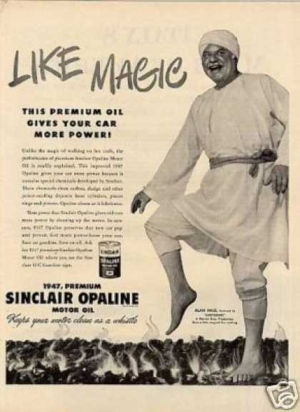Sinclair Oil Ad Alan Hale (1947)