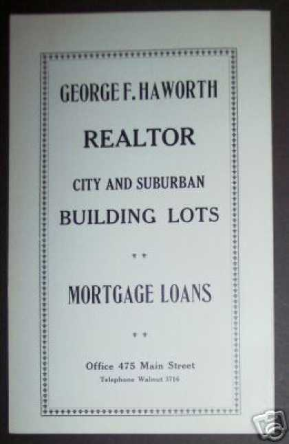 George F Haworth Realtor Springfield Ma (1922)