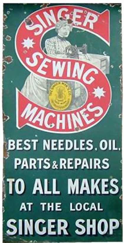 Singer Sewing Machines Shop Sign