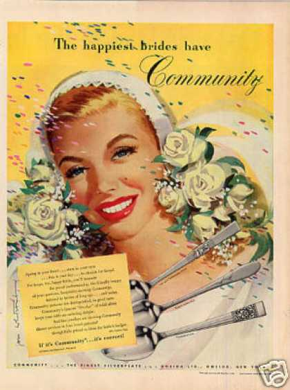 Community Silverplate Ad Whitcomb Art (1949)