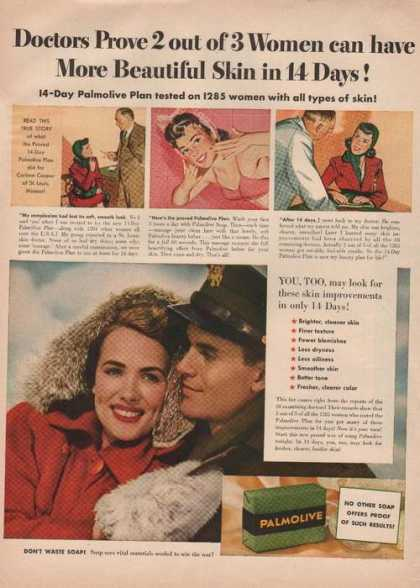 Beautiful Skin 14 Days Palmolive Soap (1944)