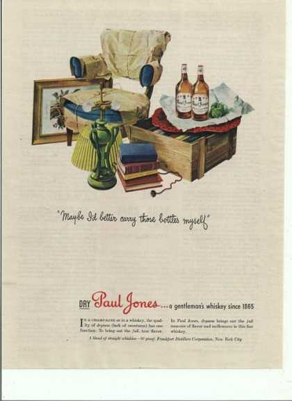 Paul Jones Gentlemans Whiskey (1944)
