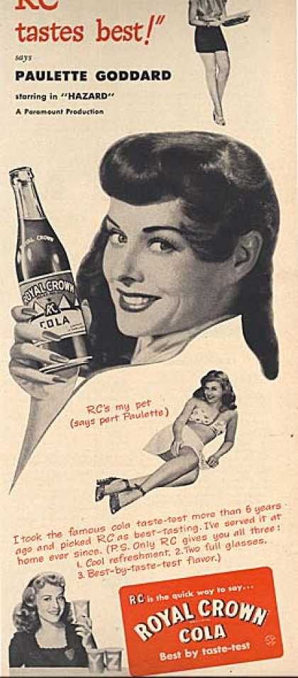 Royal Crown Cola &#8211; Paulette Goddard (1948)