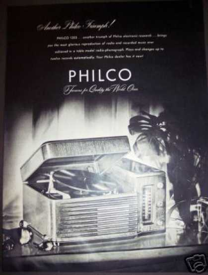 's Philco 1203 Table Model Radio Phonograph (1940)