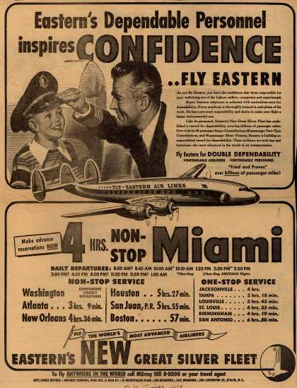Eastern Air Lines – Eastern's Dependable Personnel Inspires Confidence ...Fly Eastern (1952)