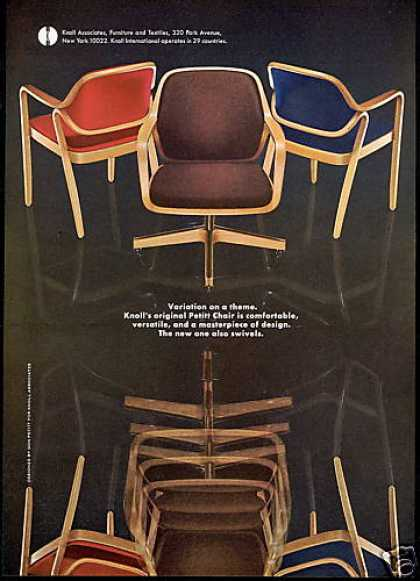 Knoll Furniture Don Petitt Chair Photo (1969)