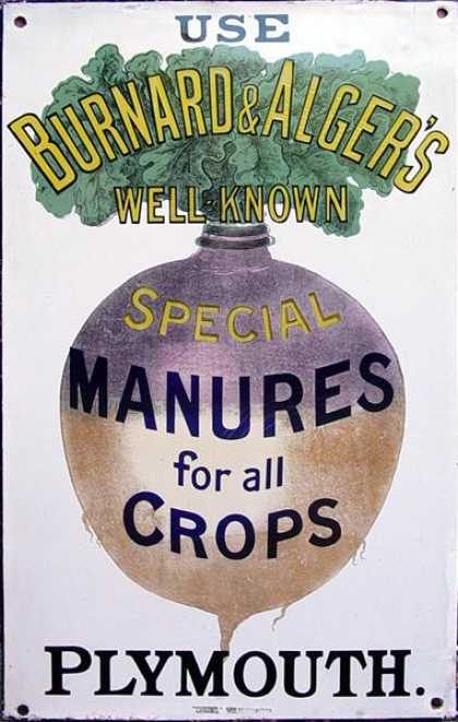 Burnard & Alger's Manures Sign