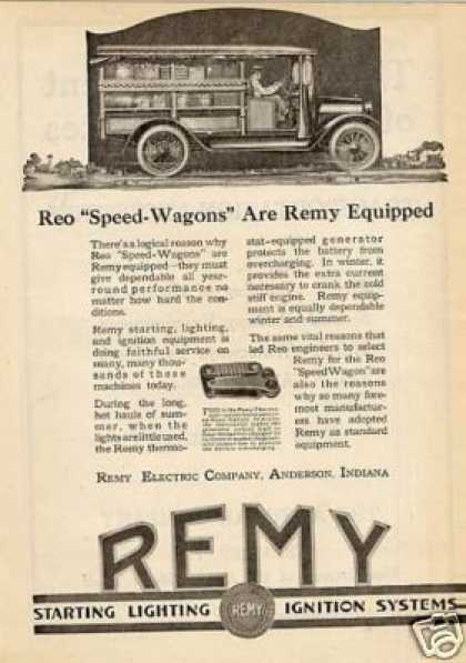 Remy Electric Ad Reo Speed-wagon Truck (1920)