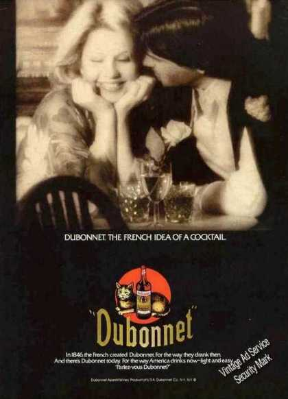 Dubonnet the French Idea of a Cocktail (1978)