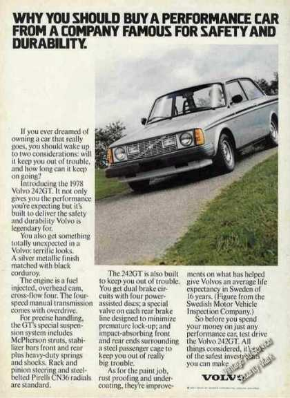 "Volvo 242gt Photo ""Performance Car"" (1978)"
