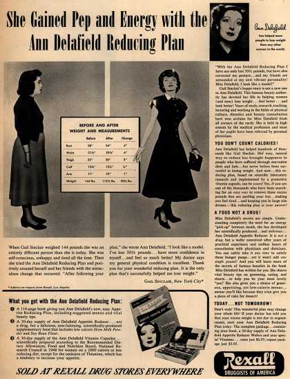 Unknown's Ann Delafield's Reducing Plan – She Gained Pep and Energy with the Ann Delafield Reducing Plan (1952)