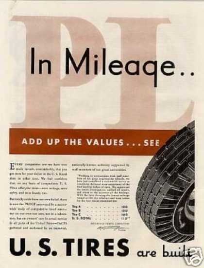 U.s. Tires Ad 2 Page (1932)