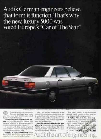 "Audi 5000s Europes ""Car of the Year"" Photo (1983)"