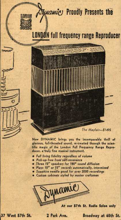 Dynamic's Reproducer – Dynamic Proudly Presents the London full frequency range Reproducer (1947)