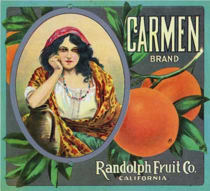 California, Carmen Brand Citrus Label