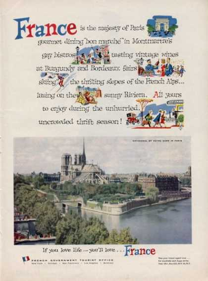 France Travel Notre Dame In Paris (1957)