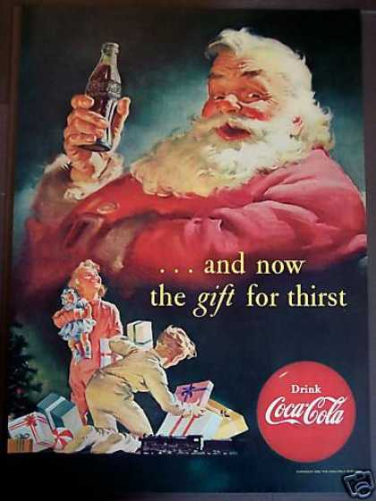 Coca-cola Coke Santa Claus X-mas (1952)