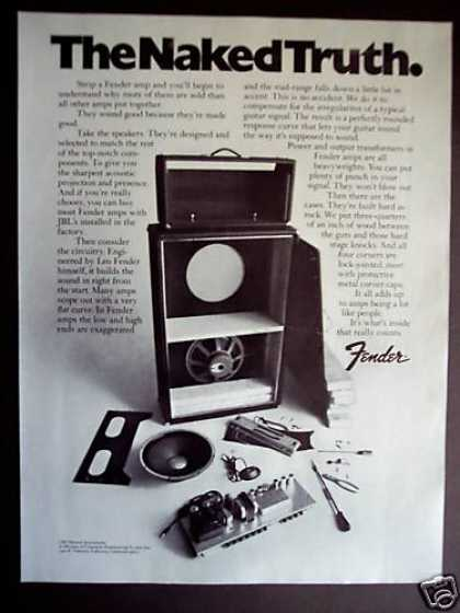 Fender Amps Guitar Amplifier Taken Apart (1971)