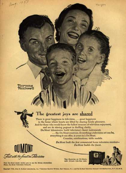 Allen B. DuMont Laboratorie's Hanover Television – The greatest joys are shared (1951)